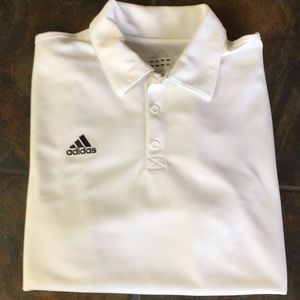 Men's Adidas white golf shirt